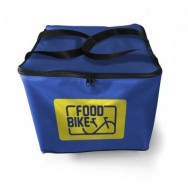 Mochila Food Bike azul + Pizzabox