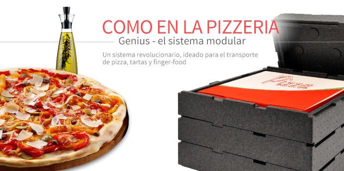 Genius - El sistema modular para el transporte de pizza