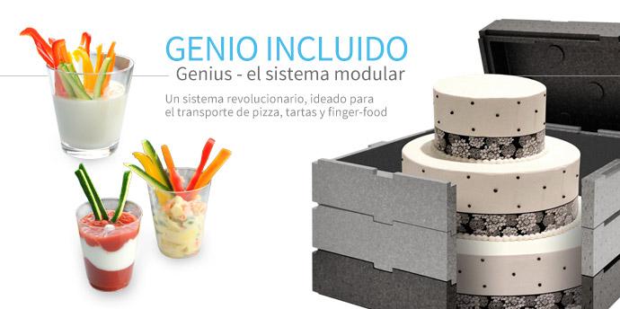 Genius - El sistema para el tranporte de pizza, tartas y finger-food